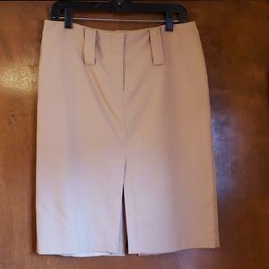 Tan wool skirt
